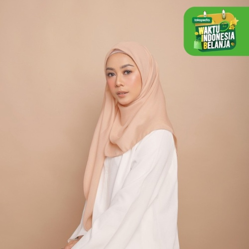 Foto Produk Hijab Wanita Sahara Scarf Voal Diario - Peach Perfait dari diario