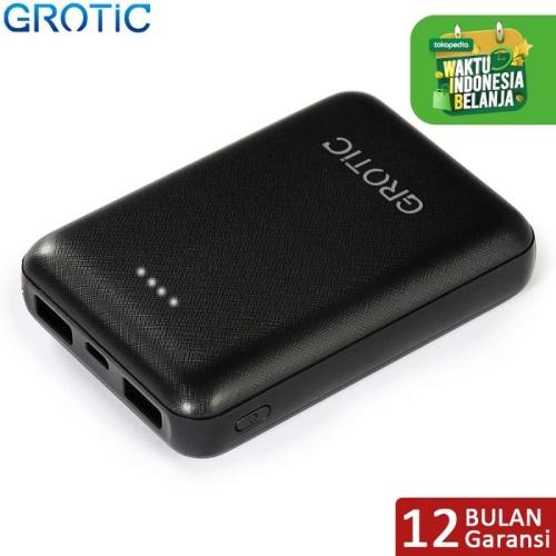Foto Produk GROTIC 8000mah Powerbank Mini GY12 2.1A Fast Charging Dual USB Output - Hitam dari APRoo