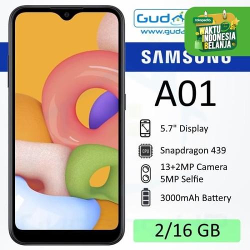 Foto Produk Samsung Galaxy A01 2/16 GB Garansi Resmi SEIN - Hitam dari Gudang-HP