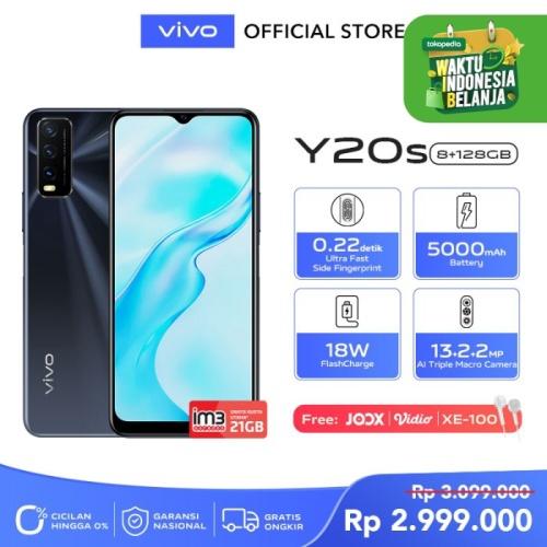 Foto Produk Vivo Y20s [8/128] RAM 8GB ROM 128GB Obsidian Black dari Vivo Indonesia