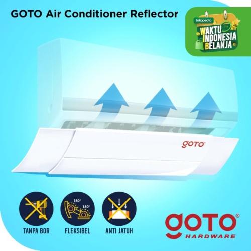 Foto Produk Goto RAF5074 AC Reflector Penahan Angin Dingin Talang - Putih dari GOTO Hardware