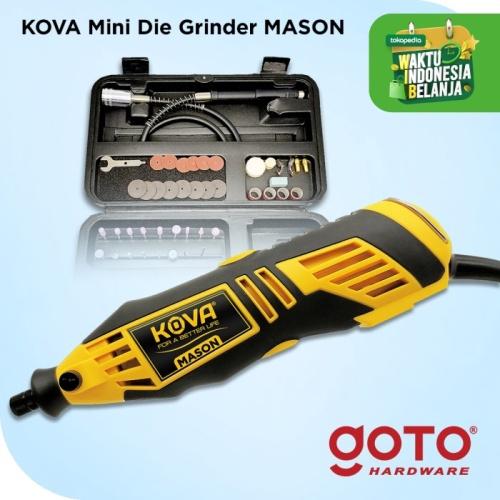 Foto Produk Kova Mason Mini Die Grinder Tuner Set 40 Pcs Gerinda Bor Mini - Kuning dari GOTO Hardware
