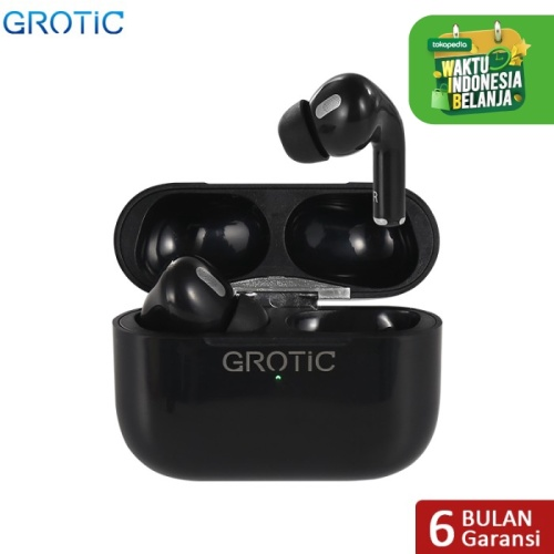 Foto Produk Headset Bluetooth Wireless airpods Earphone TWS Bisa GPS Rename Earbud - Hitam dari APRoo