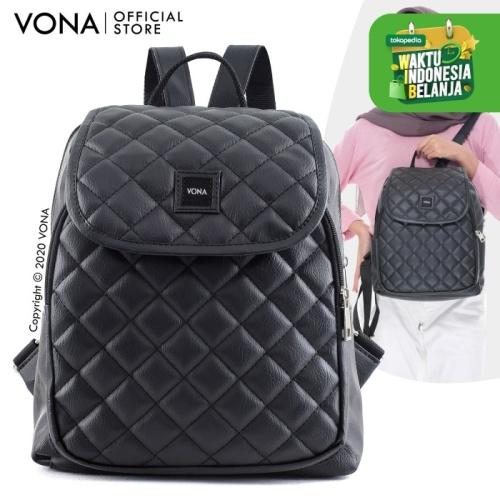 Foto Produk VONA Tas Ransel Wanita / Backpack Wanita - CORDELIA - Hitam dari VONA