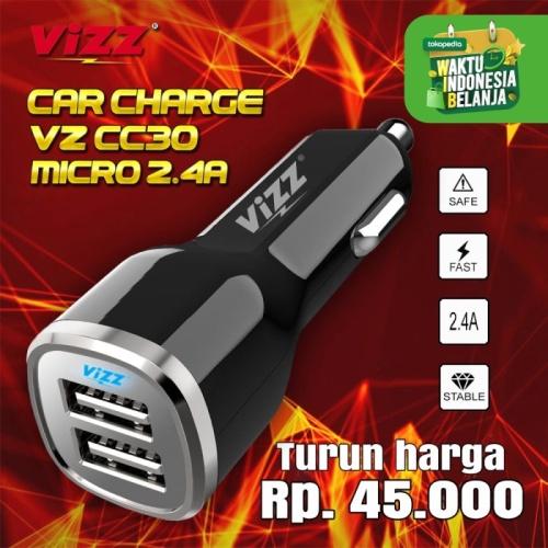 Foto Produk CAR CHARGER VIZZ VZ-CC30 Fast Charge 2.4A dari Vizz Official Store