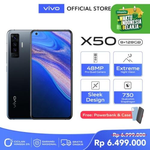 Foto Produk vivo X50 [8/128] RAM 8GB ROM 128GB Glaze Black dari Vivo Indonesia