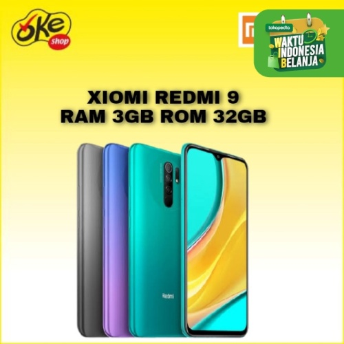 Foto Produk Xiaomi Redmi 9 Smartphone (3/32GB) - Green dari OKESHOP