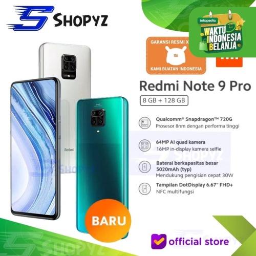 Foto Produk XIAOMI REDMI NOTE 9 PRO NFC - 8GB 128GB 8/128 -SNAPDRAGON 720G - RESMI - Aurora Blue dari Shopyz ID