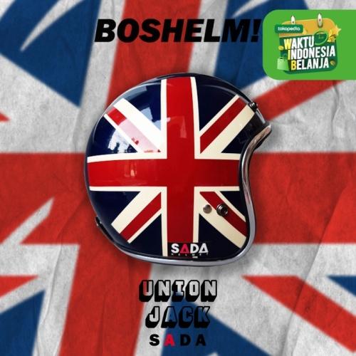 Foto Produk Helm Retro Bogo Sada Jitsu British Inggris Helm Bogo Helm List Chrome - HELMET ONLY dari BOSHELM