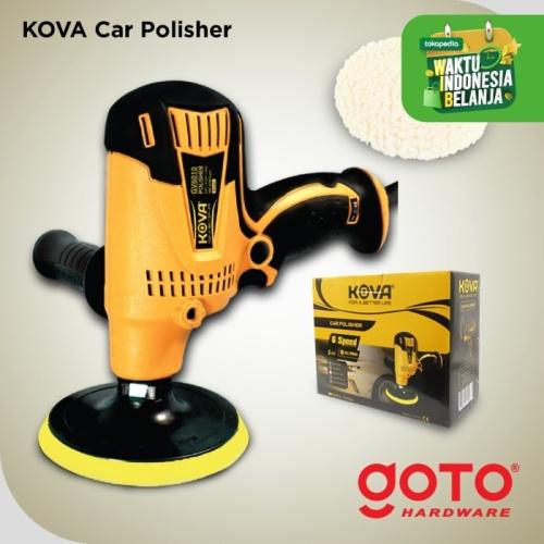 """Foto Produk Kova GV6010 Wool Polisher 5"""" Disc Mesin Poles Mobil Motor Detailing - Kuning dari GOTO Hardware"""