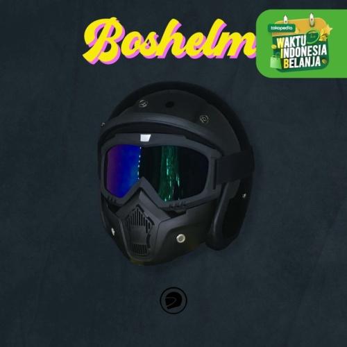 Foto Produk Helm Retro Google Mask - BLACK dari BOSHELM