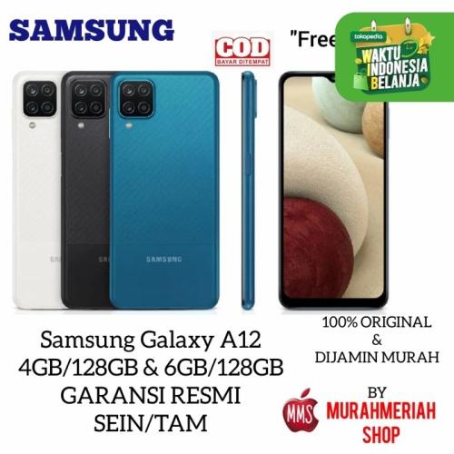 Foto Produk Samsung Galaxy A12 4/128 / 6/128 Garansi Resmi Sein By Tam - RAM 4GB.128GB, BLACK dari murahmeriah shop