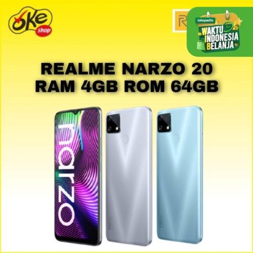 Foto Produk Realme Narzo 20 Smartphone (4/64GB) - Silver dari OKESHOP