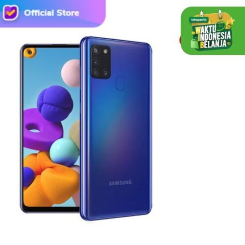 Foto Produk Samsung Galaxy A21s 3/32 - RAM 3GB / ROM 32GB - Garansi Resmi - Biru dari H2 Cellular