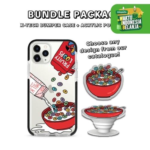 Foto Produk BUNDLE PACKAGE - X-Tech Bumper Case (iPhone) & Acrylic Popstand - Bumper White dari The Case Bible