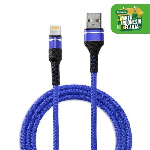 Foto Produk GROTIC Kabel Data Nilon Charger Type iPhone 1 M - Biru dari APRoo