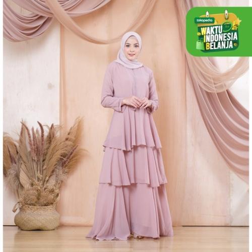 Foto Produk Terminal Grosir | Gamis Wanita Muslim Original | Kenza Dress - Mocca dari Terminalgrosir Indonesia