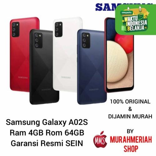 Foto Produk Samsung Galaxy A02S 4/64Gb Garansi Resmi Sein by tam - RAM 3GB.32GB, biru dari murahmeriah shop