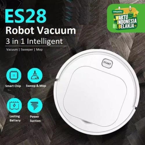 Foto Produk Robot Vacuum Cleaner Lantai ES23 ES28 Pel Lantai Otomatis - ES250 PUTIH dari JJRC Indonesia