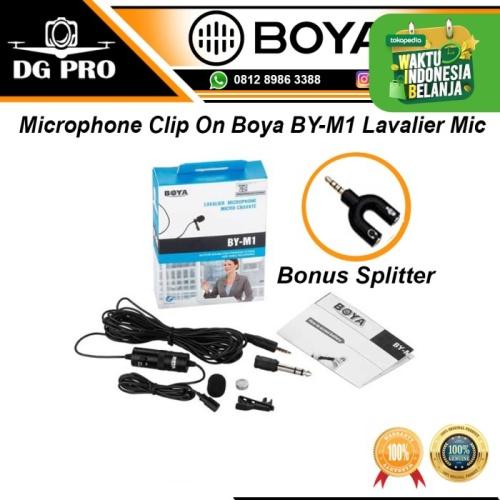Foto Produk Microphone Mic Clip On Boya BY-M1 Lavalier For Kamera & HP dari DG PRO
