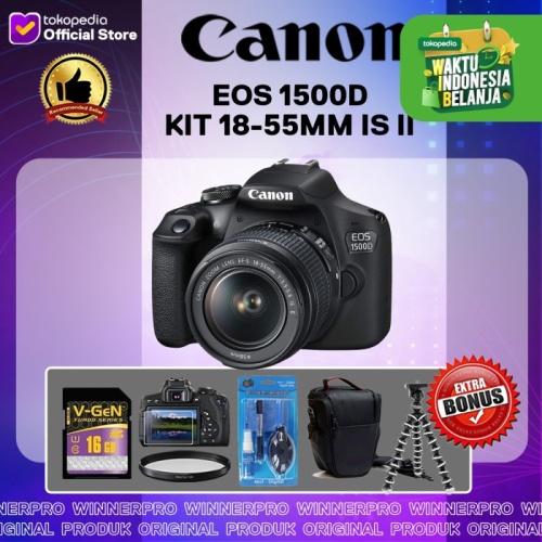 Foto Produk CANON EOS 1500D KIT 18-55MM IS II / EOS 1500 dari Winner Pro
