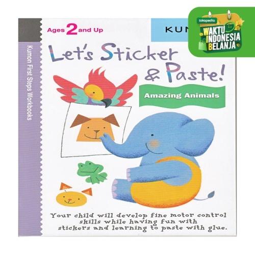 Foto Produk Buku Anak - Kumon - Let's Sticker and Paste! Amazing Animals dari Kumon Publishing INA