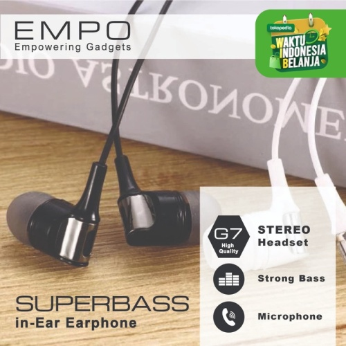 Foto Produk Empo G7 Stereo Superbass Earphone dari EMPO