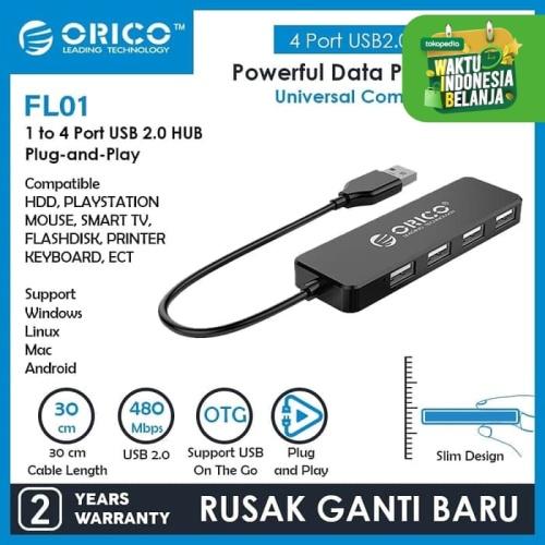 Foto Produk ORICO USB2.0 HUB 4-Port - FL01 dari ORICO INDONESIA