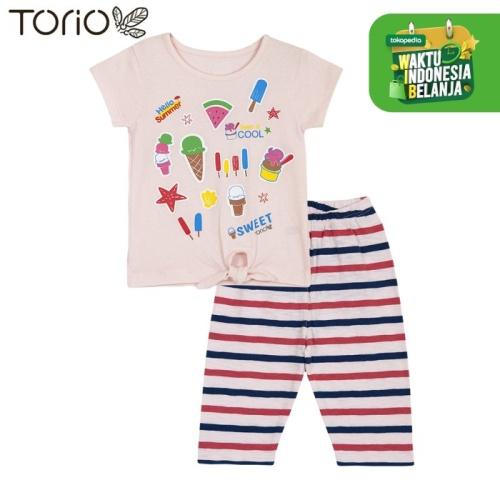 Foto Produk TORIO Baju Setelan Anak Perempuan - Legging Set Ice Cream Delight - 1-2 tahun dari Torio
