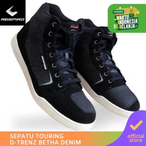 Foto Produk Respiro D'trenz Betha Denim Black White | Sepatu Motor Touring Pria - 44 dari Respiro Official Store