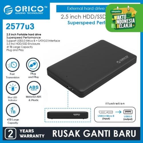 Foto Produk ORICO 2577U3 2.5 inch USB3.0 Hard Drive Enclosure dari ORICO INDONESIA