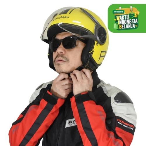 Foto Produk Cargloss YR HC Protect Helm Half Face - Yellow bisa pakai kacamata - M dari Helm Cargloss