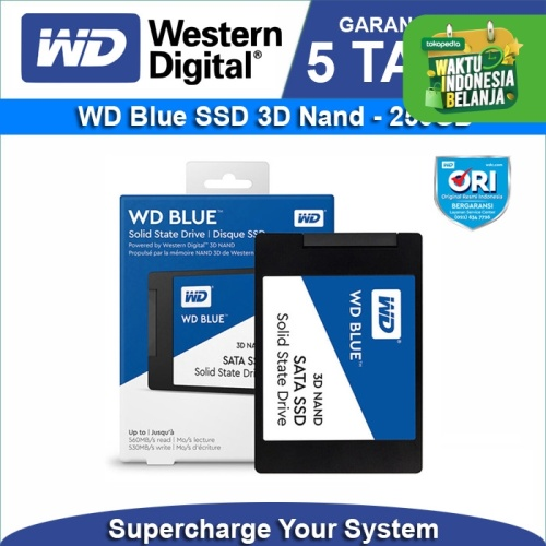 Foto Produk Promo SSD WD Blue 3D NAND 250GB SATA III 3D 6Gb/s dari WD Official Store