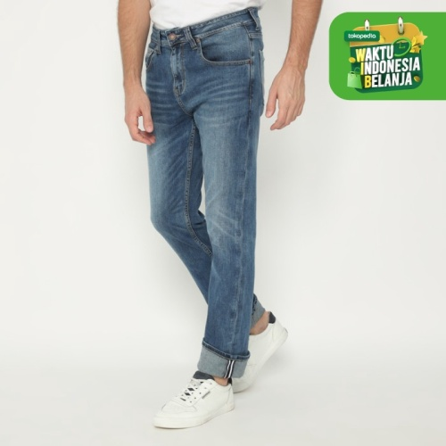 Foto Produk Papperdine 212 FW20 M.Indigo Celana Panjang Jeans Pria Selvedge - 30 dari Papperdine Jeans