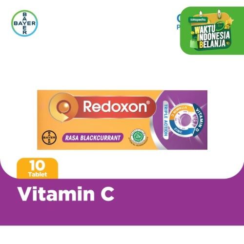 Foto Produk Redoxon Vitamin C + Zinc Rasa Blackcurrant 10 Tablet dari Bayer Health Partner