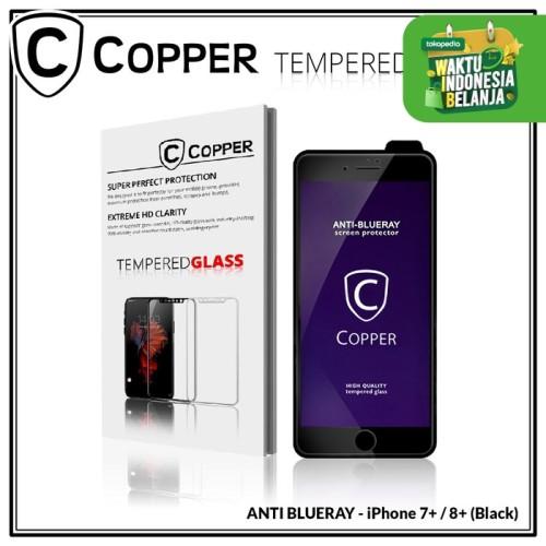 Foto Produk Iphone 7+ / 8 Plus - COPPER Tempered Glass ANTI-BLUERAY (Full Glue) - Putih dari Copper Indonesia
