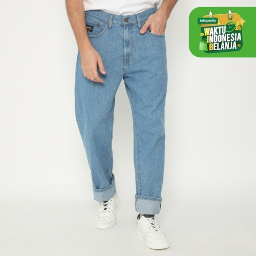 Foto Produk Papperdine 307 Bleach Loose Fit Selvedge Celana Panjang Jeans Pria - 33 dari Papperdine Jeans
