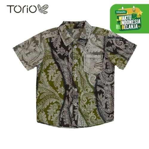 Foto Produk Torio Indonesian Smart Casual Green Batik -Kemeja Batik Anak Laki-Laki - 1-2 tahun dari Torio