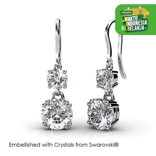 Foto Produk Snowman Hook Earrings - Anting Crystal Swarovski by Her Jewellery - White dari Her Jewellery