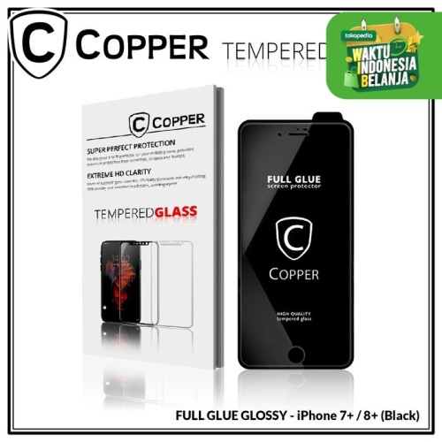 Foto Produk Iphone 7 plus / 8 plus -COPPER Tempered Glass Full Glue PREMIUM Glossy - Putih dari Copper Indonesia