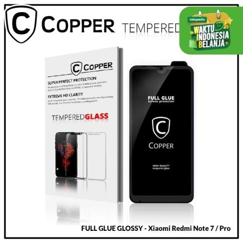 Foto Produk Xiaomi Redmi Note 7 / 7 Pro- COPPER Tempered Glass Full Glue PREMIUM dari Copper Indonesia