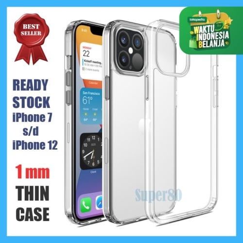 Foto Produk Soft Case Bening iPhone 11 12 Mini Pro Max Transparan Casing Slim - 12 Mini dari Super80