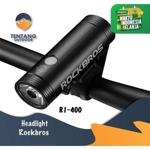 Foto Produk Lampu Senter ROCKBROS R1-400 USB Rechargeable Flashlight Rainproof dari TentangOutdoor