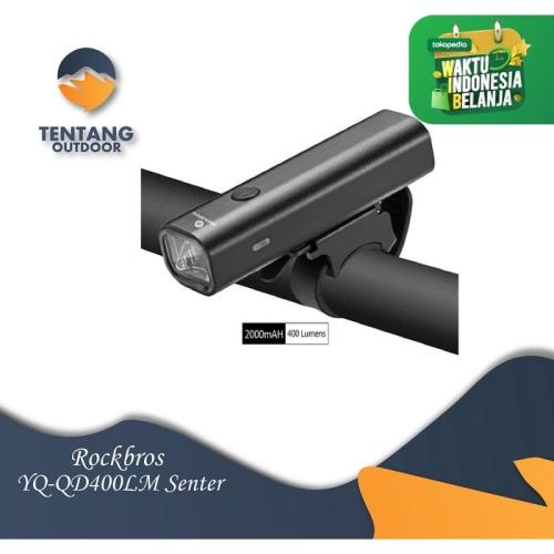 Foto Produk Lampu Senter ROCKBROS YQ-QD400LM USB Rechargeable Flashlight dari TentangOutdoor