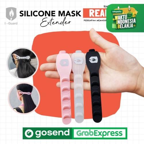 Foto Produk Pengait Masker, Silicone Mask Extender - Hitam dari Berlimpah Abadi