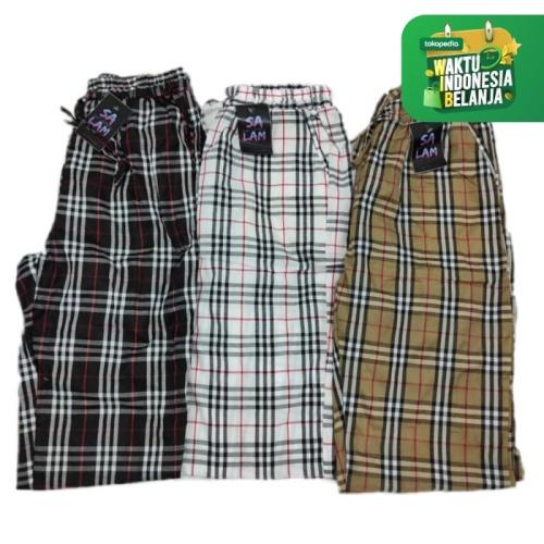 Foto Produk Celana Joger Motif Kotak / Celana Joger Wanita / Celana Panjang Joger - Putih dari Asenatfashionable