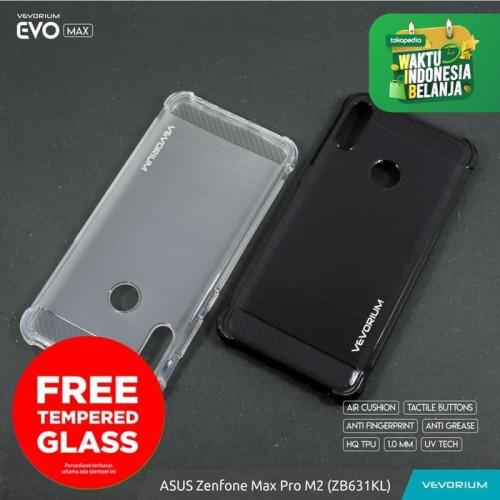 Foto Produk VEVORIUM EVO MAX Asus Zenfone Max Pro M2 ZB631KL Soft Case Anti Crack - BENING, FREE TEMPERGLAS dari Vevorium