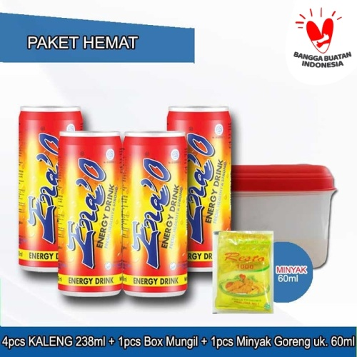 Foto Produk Paket 4pcs ENA'O KALENG 238ml + Minyak Goreng 60ml + Box Mungil dari PT. Sinde Budi Sentosa