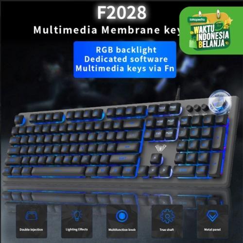 Foto Produk Keyboard Gaming Multimedia Membrane AULA F2028 – RGB Macro Software dari Aula Official Store