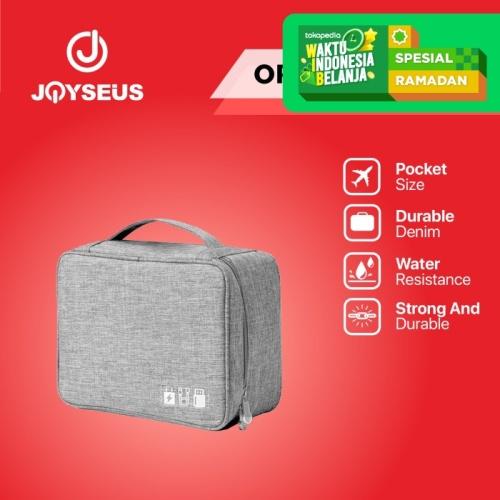 Foto Produk JOYSEUS Tragbare Digital Storage Bag Wasserdichte Organizer - KP0005 - Abu-abu dari Joyseus Official Store